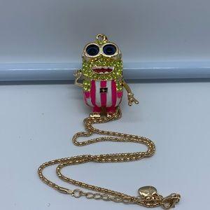 New pink & yellow minion fashion pendant necklace
